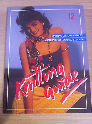 Knitting Guide-Vintage-Knitting Patterns-Women-Textured Stitches-Issue 12-1986