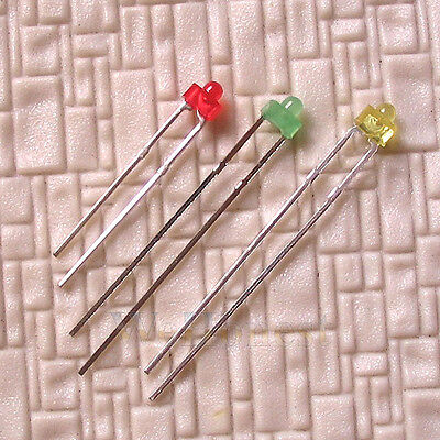 300 pcs 1.8mm Light Emitting Diode Assorted 3 Mixed Colors LEDs + free resistors