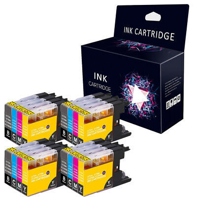 16 Compatible INK CARTRIDGES FOR BROTHER LC1240 LC1280 LC1280XL DCP-J525W