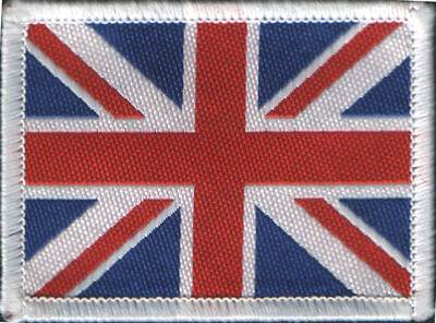 Union Jack UK British Flag Woven Badge Patch 6 x 4.5cm