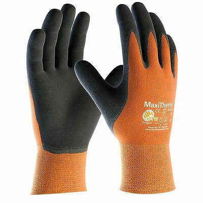 MaxiTherm 30-201 Palm Coated Thermal Cold Temperature Work Gloves - Orange