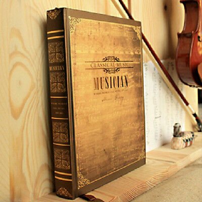 Vintage Musician Music Diary classic notebook blank journal Retro note book