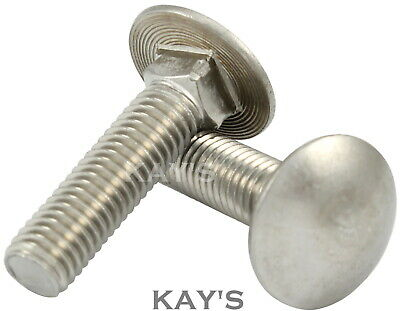 M5,M6,M8mm A2 Stainless Steel Carriage Bolts / Cup Square Coach Screws