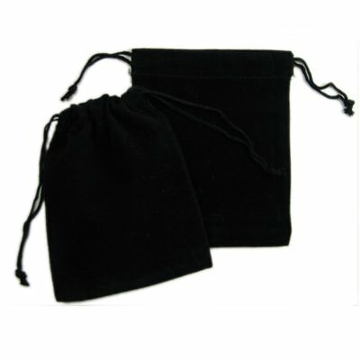 """50 Drawstring Black Velvet Square Gift Wedding Pouches Favour Jewelry Bags 4""""x5"""""""