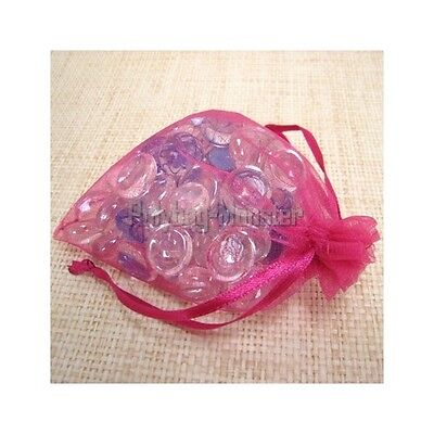50 Fuchsia Pink Organza Wedding Gift Bag Jewelry Pouches 2X2.75""