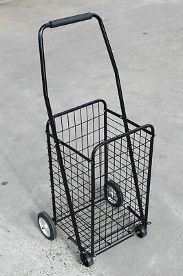 Seconds-Shopping Trolley Small Collapsible Steel , Folding Trolley with Basket