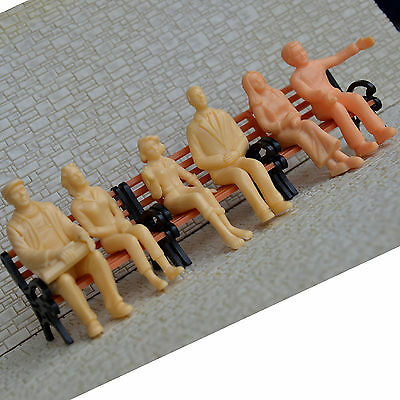 36 pcs G Scale 1:24 unPainted Figures all seated passengers 6 poses People