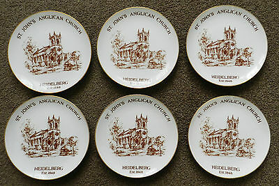 St. Johns Angligan Church Heidelberg Six Collector Plates Westminster Fine China