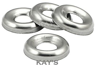 No.6,8,10,12 A2 Stainless Steel Cup Washers To Fit Our Countersunk Screws/Bolts