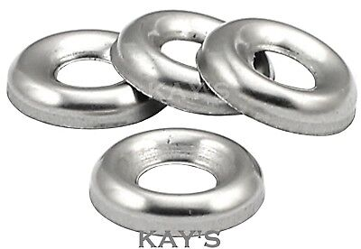 No.6,8,10,12 SCREW CUP WASHERS FOR COUNTERSUNK SCREWS A2 STAINLESS STEEL
