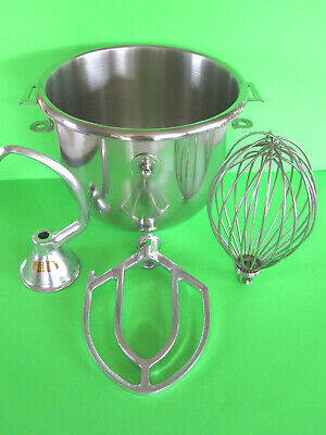EVERYTHING for the Hobart a120 120 mixer  Bowl Hook Beater & wire Whip 12 quart