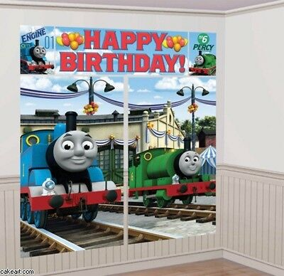 THOMAS the TRAIN SCENE SETTER Happy Birthday Party Wall Decoration Tank Engine