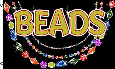 BEADS Flag 3x5 ft Business Store Shop Advertising Sign Beading Supplies Crafts