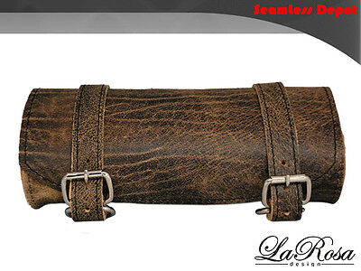 La Rosa Harley Universal Fit Frame Strap Tool Bag - Rustic Brown Leather