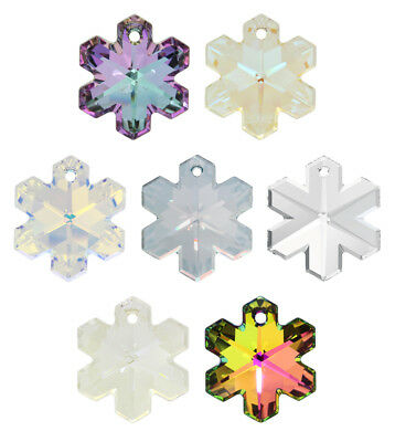 Genuine SWAROVSKI 6704 Snowflake Crystals Pendants * Many Sizes & Colors