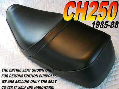 CH250 1985-88 seat cover for Honda CH 250 ELITE SPACY FREEWAY all black 124A