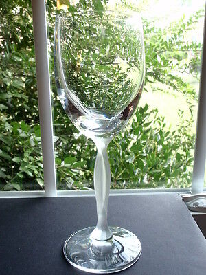 "Mikasa Ballet Crystal & Frosted Stem Water Goblet 8 3/4"" Tall 11 Oz. Capacity"