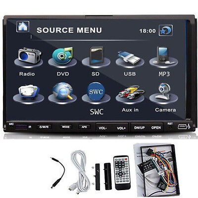7 INCH Car Stereo DVD Player MP3 USB SD Double 2 Din In Dash Radio HD LCD