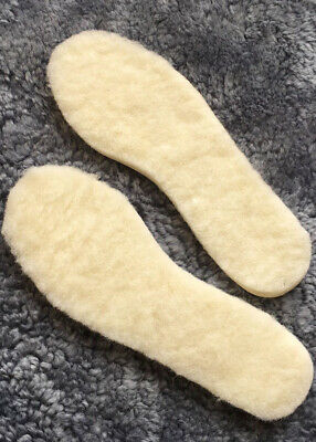 Lambland 2 Pairs of Ladies - Mens Genuine Lambswool Insoles With Cushioned Soles