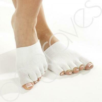 Gel Toe Socks Separate Straighten Cushion Toes Sock Comfy Protect Feet White
