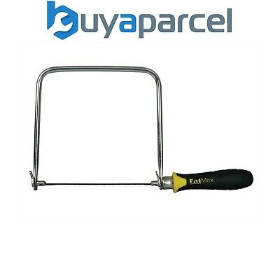 Stanley STA015106 Fatmax Coping Saw Hacksaw 0-15-106 - 3 FREE BLADES