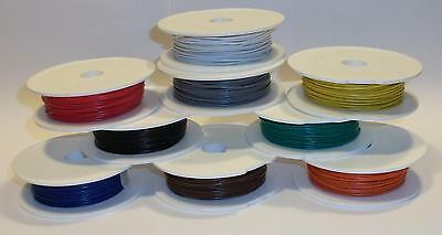 20 Metre Rolls of Equipment / Hook up wire Stranded 7/0.2mm 8 Colour variations