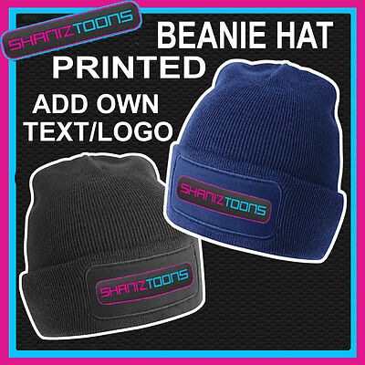 Beanie Hat Personalised With Your Own Logo/Text Boxing Sports Gym Club Team