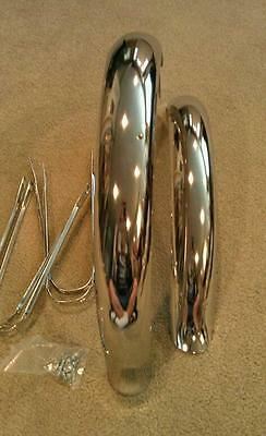"NEW CHROME FENDER SET 20/"" BICYCLES WITH HARDWARE FLARED 2/&3//4 WIDE,SCHWINNS"