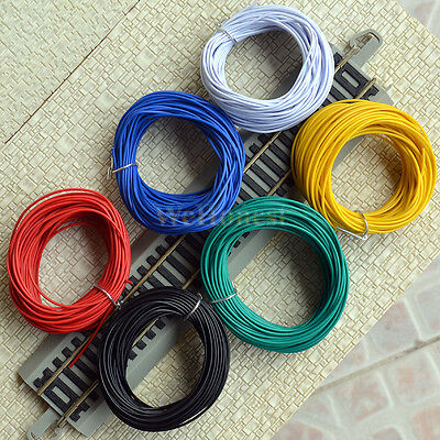 6 Rolls Assorted Colors Stranded Equipment Wires 7/0.15 for layouts 60 Meters