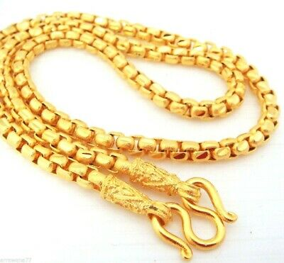 "Chain 22K 23K 24K THAI BAHT GOLD GP NECKLACE 24""  50 Grams Jewelry N16"