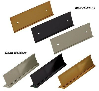 Office Name Plate Holders for 2x8 Wall Mount or Desk Top Name Plates