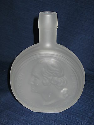 "8"" frosted glass WHEATON Bottle GEORGE WASHINGTON First President"