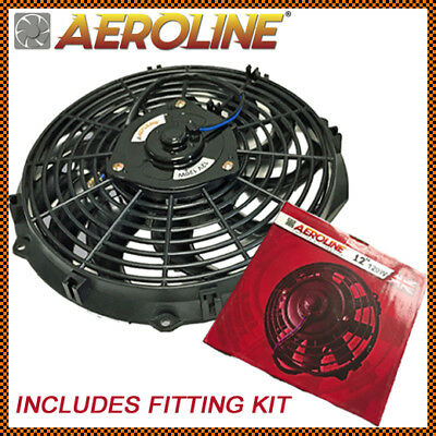 "12"" Aeroline 12V 120w Electric Radiator Cooling Fan Push Or Pull UNIVERSAL"