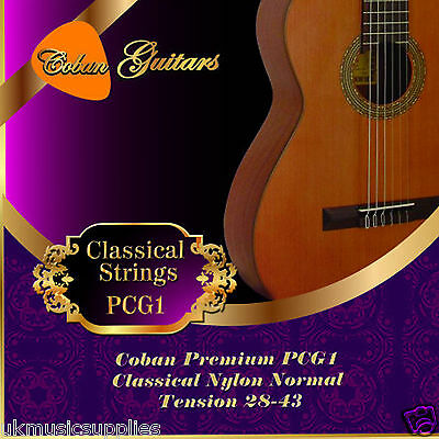 Coban Guitars Premium PCG1 Classical Nylon Normal Tension 28-43 x 6 Strings.