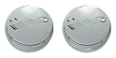 2 x AICO Ei141RC Smoke Alarm Mains / Battery Back up (Ionisation)