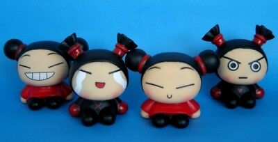 Pucca & Garu Korea Style Coin Bank Figures Toy Set of 4pc NEW
