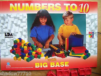 big base numbers to 10 mathematics worksheets book & flats for multilink cubes *
