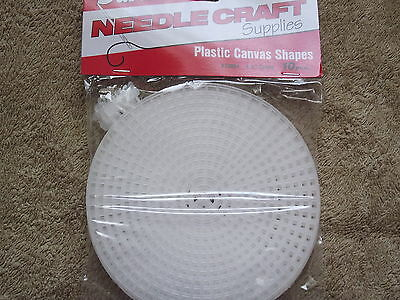 "Plastic Canvas Shapes Pack of 10 - 4 1/2"" Round - 7 Count"