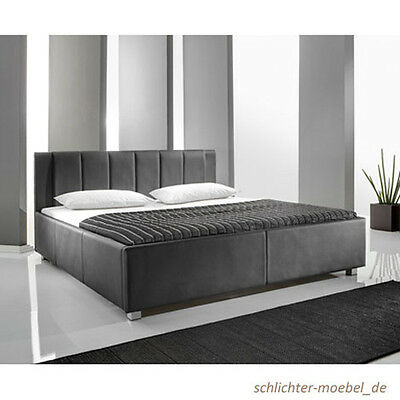 bett desingerbett 140x200 inkl led doppelbett polsterbett kunstleder bettgestell eur 329 00. Black Bedroom Furniture Sets. Home Design Ideas
