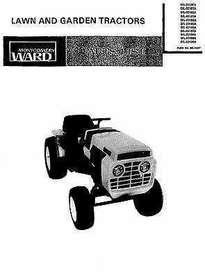 Montgomery WARDS Gilson Bro's Tractors PARTS MANUAL GIL-33180A thru GIL-33190A