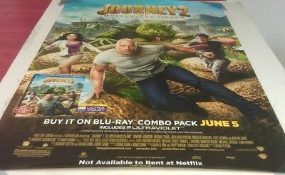 JOURNEY 2 THE MYSTERIOUS ISLAND DVD MOVIE POSTER 1 Sided ORIGINAL 27x40