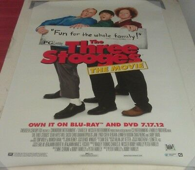 THE THREE STOOGES DVD MOVIE POSTER 1 Sided ORIGINAL 27x40