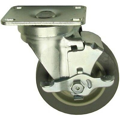 "PLATE MNT CASTER W/BRAKE 4"" DIA 2-3/8 X 3-5/8 for Garland CHG Dito Dean 262447"