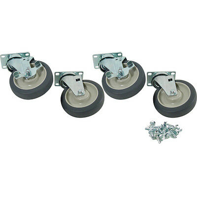 "PLATE CASTER 4/SET 5"" STANDARD DUTY SWIVEL 1000 lbs Capacity 6"" Load H 264704"