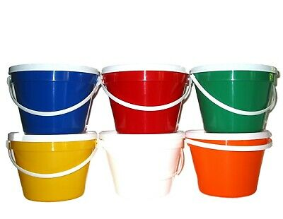 50  1 Gallon Buckets and Lids Mix of colors Made in America Lead Free Food Safe