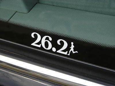 26.2 Marathon Decal Sticker Run Jog Runner 3""