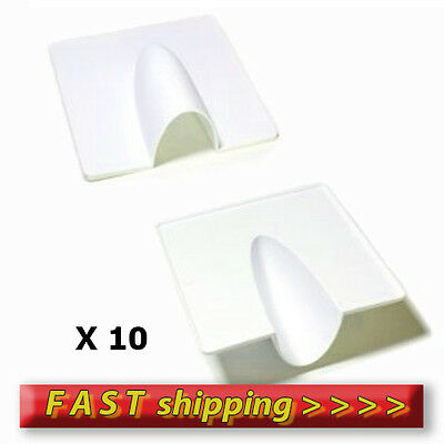 10 white  X Satellite/Coaxial Cable Entry Cover (Wall Tidy )