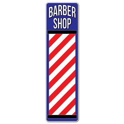 Barber Shop Metal Sign, Barbers Pole Hairdresser Sign Fully Weatherproof
