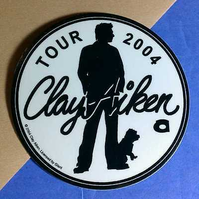 Clay Aiken 2004 Tour Dog Silhouette B&w Amp Board Case Sticker