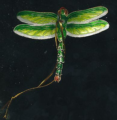 Articulated green dragonfly hanging ornaments-- Set of 4pc. Beautiful !